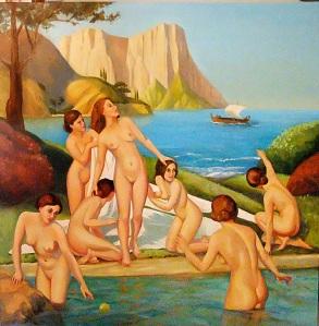 A dangerous stranger - oil on canvas 1m x 1m
