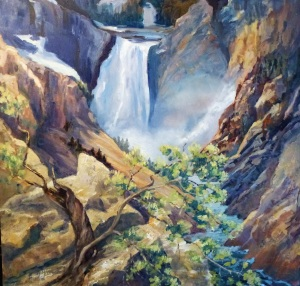 Yellowstone Lower Falls, oil on canvas, 60x60