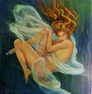 Leucothea - the White Goddess - oil on canvas 60x60