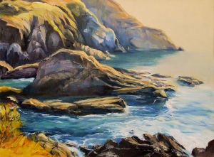 Morning sunlight, Port Macquarie - oil on canvas 60x50 cms