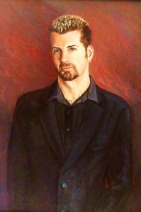 Dan, oil on canvas board, 75x105