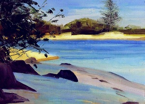 Echo Beach Early Afternoon - oil sketch 30x40