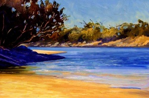 Echo Beach Early Afternoon - oil on canvas, 45x60