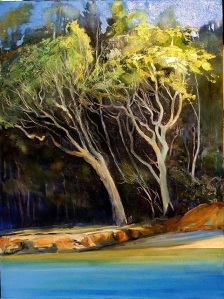 Echo beach Noon - oil on canvas, 60x45