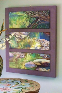 Silent Waters Triptych mounted.