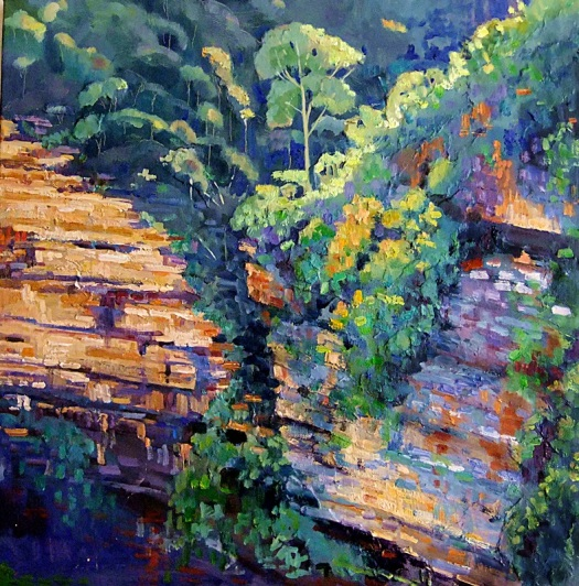 Katoomba Cliffs oil on canvas 60x60 cms