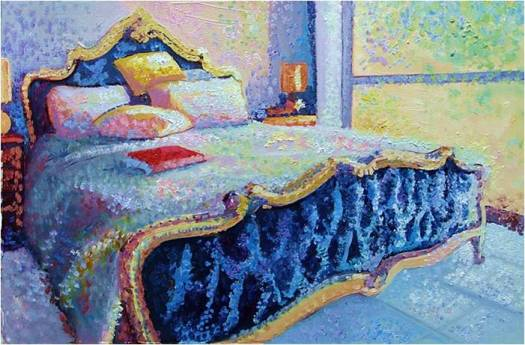 The French Bed - study in magenta, cyan and yellow