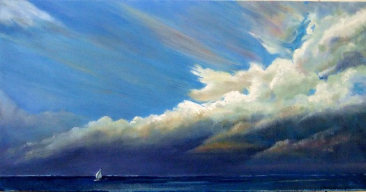Before the Storm, oil on canvas, 40 x 80 cms