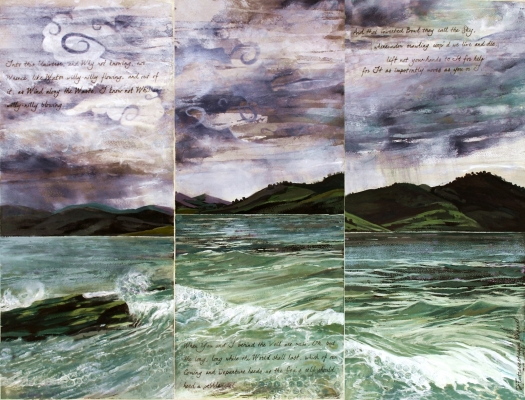 Cloudy Thoughts - D'Entrecasteaux, mixed media on paper, 61x81 cms