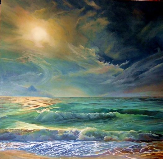 Sea of Dreams, oil on canvas, 91x91 cms