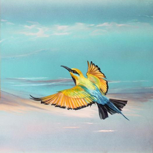 The Art of Riding on the Wind No. 6 Rainbow Bee Eater a