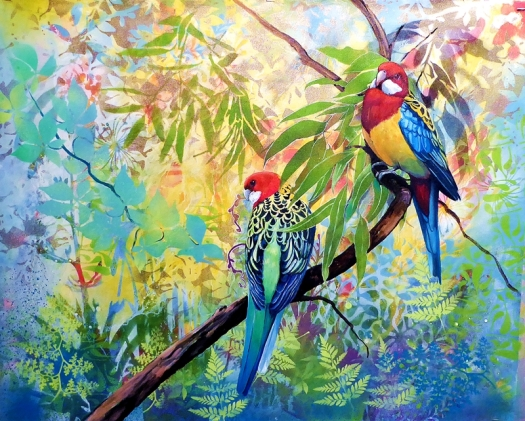 Just the two of us - Eastern Rosellas.web