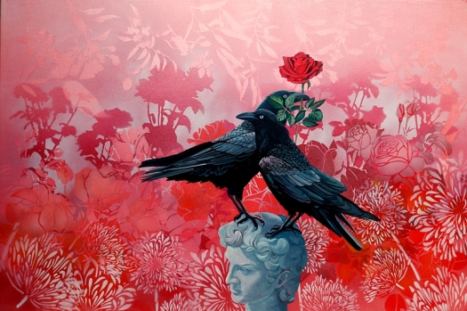 Crows, Rose, Michelangelo's.web