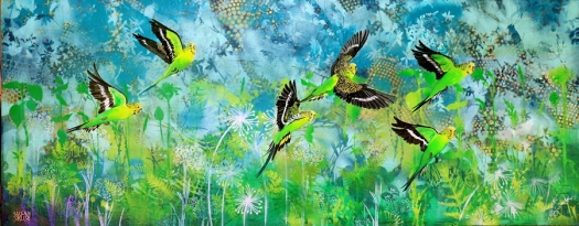 Budgies on a mission.web