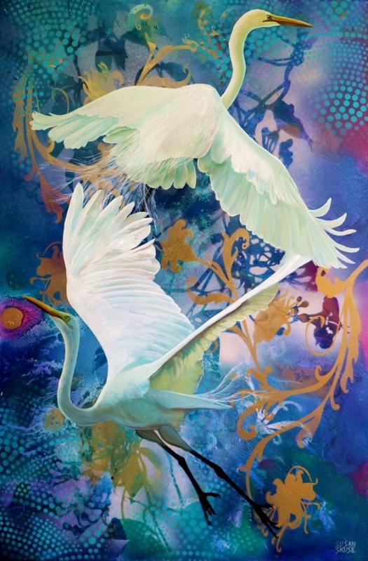 Duet - Great Egrets.web