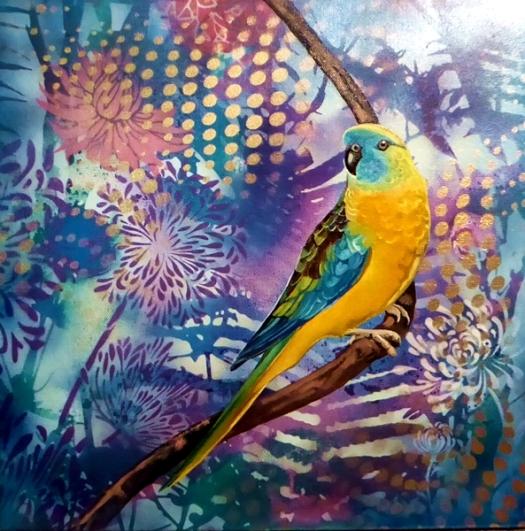 Parrot pinups #1 - Turquoise parrot.net