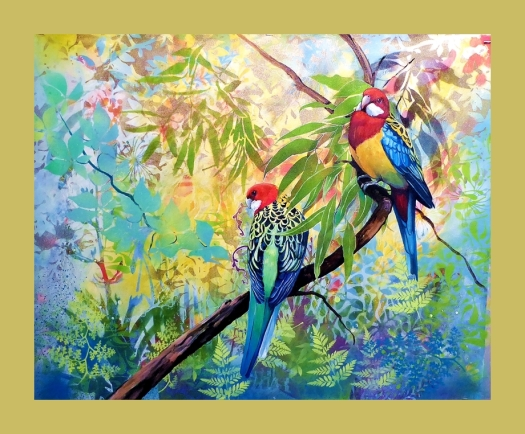 Just the two of us - Eastern Rosellas.web frame
